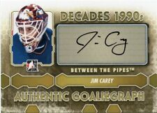 12/13 BETWEEN THE PIPES GOALIEGRAPH AUTOGRAPH AUTO JIM CAREY *42442
