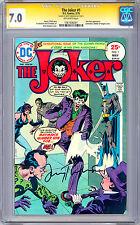 THE JOKER #1 CGC-SS 7.0 SIGNED *BATMAN LEGEND JERRY ROBINSON* JOKER CREATOR 1975