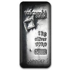 1 kilo Silver Bar - Valcambi (Poured, w/Assay) - SKU #86730