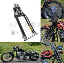 """Black Springer Front End +2"""" Length Harley Davidson Sportster Bobber Chopper"""