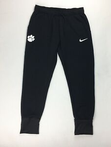 Nike Clemson Tigers Double Knit Tapered Training Pant Women's M Black AQ3515