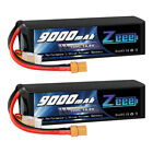 2x Zeee 9000mAh 14.8V XT90 4S 100C Lipo Battery for RC Car Truck Boat Helicopter