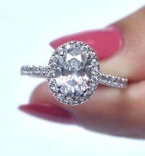 1,90Kt 585er Weiß gold Ovale Form gut aussehend Solitär Verlobung Ring