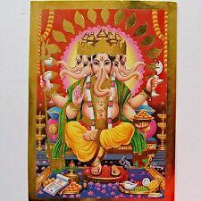 Altarbild GANESH- GANPATI Prägedruck Indien Hinduismus Götter Bild Lackbild 30