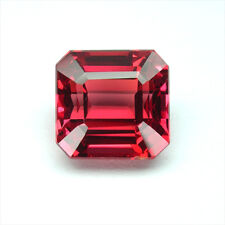 6.50 carats RED ORANGE SAPPHIRE OCTAGON EMERALD LOOSE GEMSTONE JEWELRY
