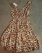 Rajrang Ladies Short, Sleeveless Dress, Animal print, Md.