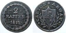 Schweiz 2 Rappen Aargau 1812 (3)