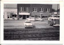 Main Street USA Business Signs Station Wagon Cars Van Vintage 1960s Photo