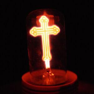 Neon Lamp Roman/Christian CROSS Figurine E27/E26 220V/230V 2W Night Light Bulb