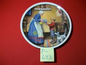 """VINT COLLECTIBLE CERTIFIED 1986 NORMAN ROCKWELLS' """"THE PANTRY RAID"""" BY KNOWLES"""