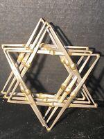 RON SCHMIDT BRUTALIST STAR OF DAVID JUDAICA MODERNIST METAL WALL ART SCULPTURE