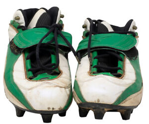Doug Pederson Signed 1996-98 Green Bay Packers Game Used Cleats Mears LOA