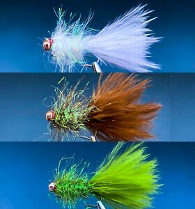 Tungsten Bead BALANCED Leech Trout fly fishing stillwater flies
