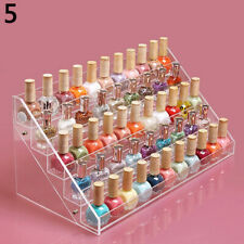 Makeup Organizer Case Multi-Tiers Display Stand Clear Nail Polish Holder Useful