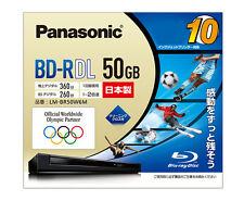 10 Panasonic BluRay BD-R DL 2X Blu-Ray Inkjet Printable 50GB Made in Japan