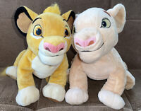 Disney Store The Lion King Simba & Nala Plush Set Stuffed Animals 12 x 14