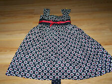 Size 5 Bonnie Jean Black White Red Summer Daisy Dress Flowers & Polka Dots EUC