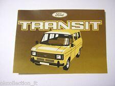 VECCHIO ADESIVO AUTO anni '80 / Old Sticker Vintage FORD TRANSIT (cm 12 x 8,5)
