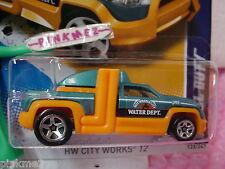 CASE J 2012 Hot Wheels DIESEL DUTY Truck #133 scan∞Teal GREEN∞Water Dept
