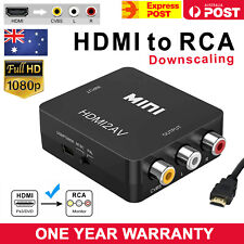 1080p HDMI to RCA Composite AV CVBS 3RCA Video Cable Converter Downscaling  AU