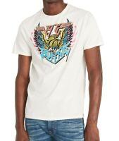 Buffalo David Bitton Mens T-Shirt Ivory Multi Size Small S Graphic Tee- 483