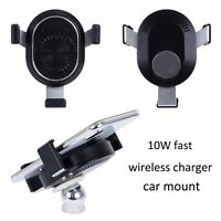 2017 10W Qi Fast Wireless Charger Car Mount For iphone X/8/8 plus Galaxy S8 Edge