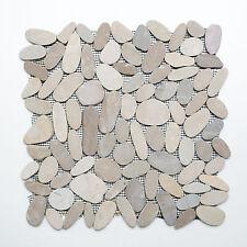 Fliesen Mosaik Mosaikfliesen Flusskiesel geschnitten Küche Bad WC Boden 9mm #427