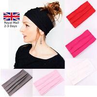 EXTRA THICK WIDE STRIPE STRETCH ELASTIC BAND YOGA HAIR HEADBAND LADIES GIRLS