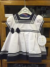 Cotton Blend Nautical Dresses (0-24 Months) for Girls