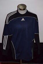 Men's adidas Soccer Goalkeeper Shirt or Jersey Black & Blue Size Medium