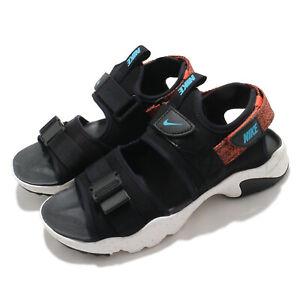 Nike Canyon Sandal Black Orange White Strap Thick Sole Men Shoes CI8797-007