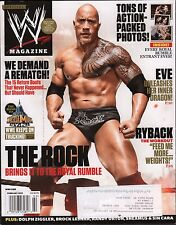 WWE Magazine February 2013 The Rock, Eve w/ML EX 121115DBE