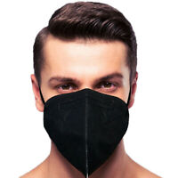 10 Pack Black Face Mask 5 Layers MADE IN USA Filtration>95% Folding Respiratory