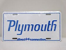 1970's Plymouth Direct Connection License Plate - NEW In Plastic wrap