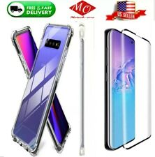 For Samsung Galaxy S10 and S20 series clear Case and tempered Screen Protector