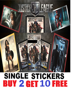Panini JUSTICE LEAGUE MOVIE STICKERS!  Buy 2 get 10 FREE!!!!   FREE Postage!