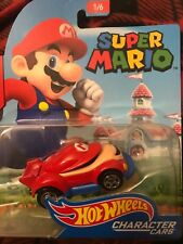Super Mario Hot Wheels Car 1/64 Scale Character Cars Mario Vehicle Red Blue