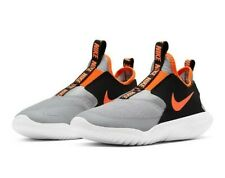 New Nike Flex Runner Boy's Athletic Shoes Preschool Grey/Black/Orange Size 11c