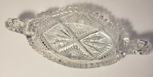 Antique EAPG Imperial Nucut 2 Handled Pickle Dish