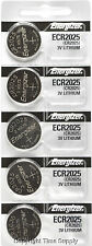 5 pcs 2025 Energizer Watch Batteries CR2025 CR 2025 3V Lithium Battery 0%HG