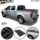 6' Ft Bed Soft Lock Tri-Fold Tonneau Cover Fit For 2005-2021 Nissan Frontier
