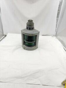 Vintage Wilcox Crittenden Marine Oil Lamp Green Glass