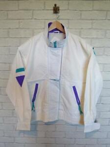 VTG Shell Suit Jacket Top Festival Tracksuit Windbreaker 80s/90s Medium #B4361