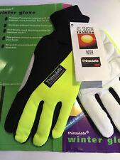 Thinsulate Winter Cycling Full Finger Glove Yellow/Black Medium