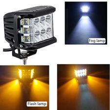 4Inch LED Work Light Bar Side Shooter Combo White + Amber Strobe Driving Offroad