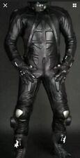 Black Customized Leather Suit Biker Motorbike Racing Motorcycle MotoGP 1 & 2 PC