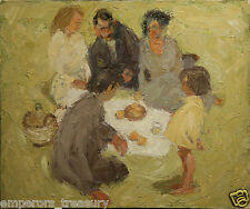 20th Century Painting, Picnic and Child by Dick Sargent (AMERICAN 1911-1978)