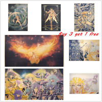 Saint Seiya Japanness Anime Kraft Paper Posters Wall Decor Art Painting Picture