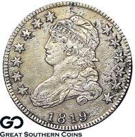 1819 Capped Bust Quarter, RARE Choice AU++/Unc Details, AU/Unc Bids 2100/3500!