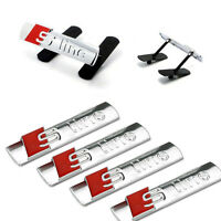 S Line Badge Full 5 Pcs Set Grill & Boot Chrome Badges Decal Sticker All Molder